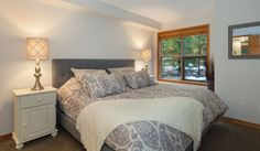 Whistler Rental Arrowhead Point #5 Master Bedroom with King Bed @whistlrplatinum #vacation #rental #whistler #travel