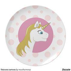 Unicorn cartoon plate