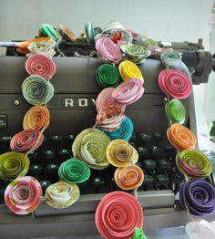Colorful Paper Flower Garland.