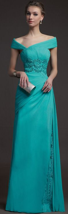 Charming Off-the-shoulder Chiffon Sheath/column Floor-length Lace Ruching Beading Prom Dresses