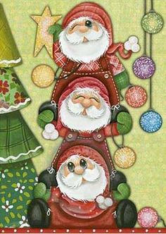 Solve Three Santas jigsaw puzzle online with 35 pieces Christmas Yard Art, Christmas Drawing, Christmas Scenes, Christmas Clipart, Felt Christmas, All Things Christmas, Vintage Christmas, Christmas Time, Christmas Crafts