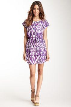 Silk Ikat Print Tunic Dress