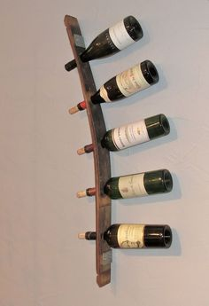 Barrel Stave 5 Bottle Wall Mount Wine Rack by ColoradoBarrelDesign, $67.00