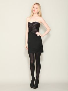 BCBGMaxAzria - Satin Bandage Strapless Dress. (Was $346, now $109)