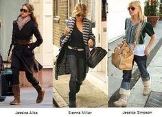 Vestir y Combinar Botas Ugg #estilo #moda