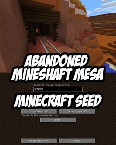 Minecraft Seed:Mesa riddled with abandoned mineshaft entrances and rails. Seed:INSHOT