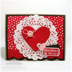 Two Happy Stampers: A Doily More Amore Valentine