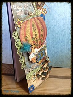 Fly with me Notebook by Tati Scrap using Steampunk Spells! Share on our Ning gallery #graphic45