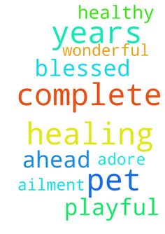 Pray for complete healing for my pet of 12 years -  The Lord blessed me with a wonderful pet that I adore. I pray for complete healing for its ailment and more healthy, playful years ahead.  Posted at: https://prayerrequest.com/t/uNY #pray #prayer #request #prayerrequest