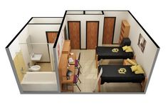 Example of a double room with a bath at #CUBoulder. Click the image for more information! #BoulderBound