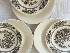 6 vintage china dessert plates mixmatched by