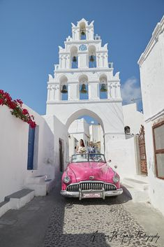 Wedding ideas for your destination wedding in Santorini car Santorini Wedding, Greece Wedding, Wedding Car, Destination Wedding, Car Ins, Weddingideas, Vintage Cars, Engagement Photos, Weddings