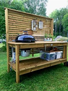 Grill Station design ideas for your backyard. #grilldesign #grillstations - Outdoor Grill Station Table Kitchen Bar Amazing 14 http://thecharleygirl.com/24067/outdoor-grill-station/outdoor-grill-station-table-kitchen-bar-amazing-14/