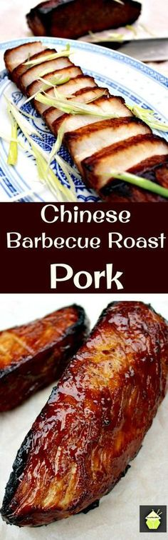 Chinese Barbecue Pork, (Char Sui Pork), is a delicious recipe, full of flavor. It's sticky, sweet and slightly caramelised and goes perfect with a bowl of noodles, fried rice or simply eaten on it's own as an appetizer! #chinesefoodrecipes