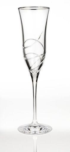 Waterford Ballet Ribbon Essence Platinum Champagne Flute