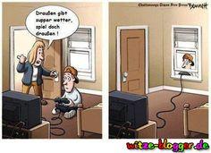 Draußen Spielen - Lustiges Cartoon