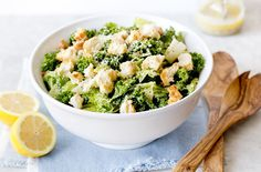 Kale gives this tangy Caesar salad staying power.
