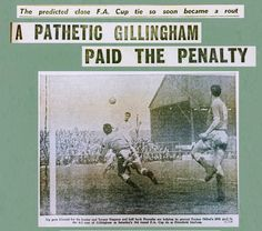 Gillingham 2 Orient 6 in Jan 1961 at Priestfield Stadium. Action from the FA Cup 3rd Round.