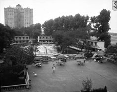 Edgewater Beach Hotel pool in 1954.
