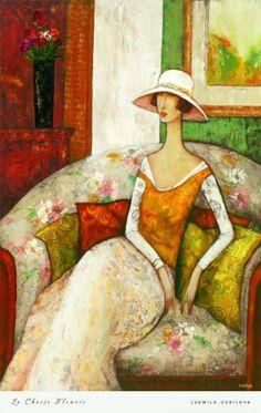 La Chaise Fleurie ~ Ludmila Curilova