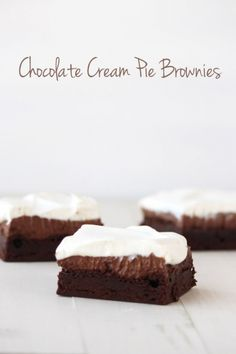 Chocolate Cream Pie Brownie Recipe