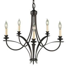 Murray Feiss F1888/5ORB 5 Light Boulevard Chandelier