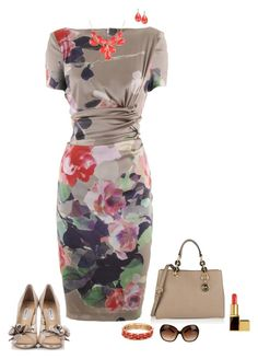 """Floral dress"" by julietajj on Polyvore"