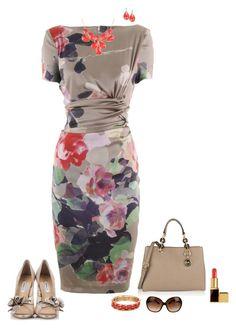 """Floral dress"" by julietajj on Polyvore"