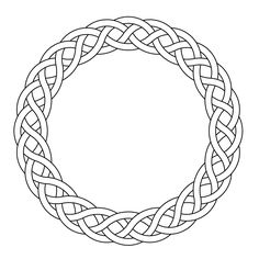 Celtic knot-worrk circle garland narrow by Peter Mulkers