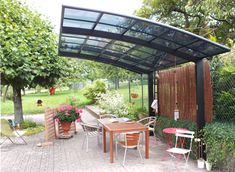 terrasse design - Google Search Carport Aluminium, Terrasse Design, Tent, Outdoor Structures, Design Blog, Bons Plans, Backyard Ideas, Claire, Garage