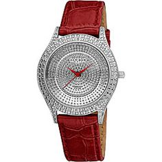 @Overstock - This Akribos XXIV luxury diamond leather band women's watch from the Akribos Brillianaire Collection combines the sizzle of diamonds and the sleekness of a fine casual dress watch. The Red Brilliance is powered by a fine Swiss ISA quartz movement.http://www.overstock.com/Jewelry-Watches/Akribos-XXIV-Womens-Diamond-Red-Brilliance-Swiss-Quartz-Strap-Watch/5187558/product.html?CID=214117 $73.54