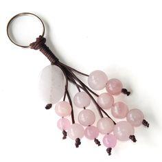 Llavero cuarzo rosa