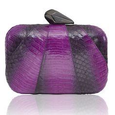 Morley Ombre Snakeskin in Magenta - KOTUR Clutch & Minaudiere Magenta, Purple Accessories, Clutch, Evening Bags, Snake Skin, Goals, Luxury, Winter, Fashion