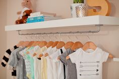 Changing table - Add a small Ikea shelf with a railing nearby to have easy access to the clothes