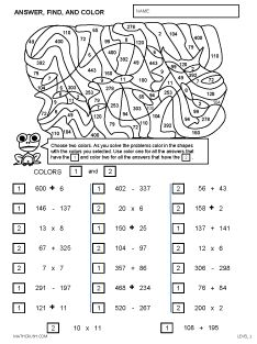 math art worksheets by math crush  jr high math  pinterest  math  ordinal art  level  these one page worksheets introduce ordinals  example st nd rd etc students color certain objects to recognize  their place in