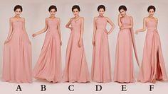 Custom made Bridesmaid Dress  pink van GoldenBridalsDresses op Etsy, $69.00