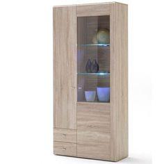 Seda Display Sideboard 2 Door In Sanoma Oak With Lights T07