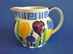 Bough Pottery (Edinburgh) 'Crocus' Jug by Richard Amour c1925