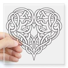 Shop CELTIC HEART-OUTLINE Square Sticker x designed by HotRoddinTees. Lots of different size and color combinations to choose from. Wood Carving Patterns, Carving Designs, Zentangle Patterns, Embroidery Patterns, Celtic Symbols, Celtic Knots, Celtic Heart Knot, Mayan Symbols, Egyptian Symbols