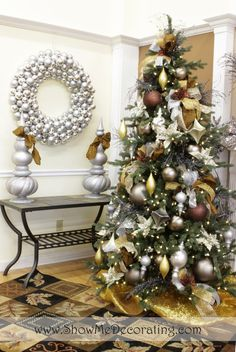 I've decorated one of my 8 trees in precious metals for 7 years now -- the tree in the Den & I love it so much, wish I could leave it up year 'round. Precious Metal Mix ~~ Christmas Tree Theme