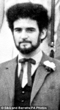 Peter Sutcliffe at a friends wedding. The groom Trevor Birdsall later gave evidence at Sutcliffe's trial.