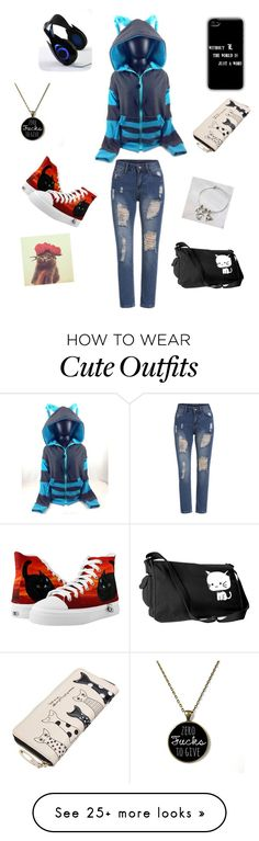"""A kitty outfit"" by sparkyeve on Polyvore featuring Zipz, women's clothing, women's fashion, women, female, woman, misses and juniors"