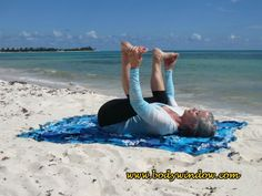 Loved by all, the Happy Baby Pose is a powerful hip opener. It releases the sacrum and lower back, and it soothes the central nervous system. Happy Baby Pose, Yin Yoga Poses, Hip Openers, Nervous System, Beach Mat, Outdoor Blanket, Zen, Mexico, Playa Del Carmen
