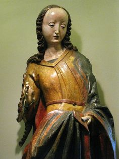 Maloposka Region, St. Barbara, c.1500, detail   Flickr - Photo