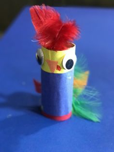 DIY Moana Hei Hei Craft. Toilet Paper roll.