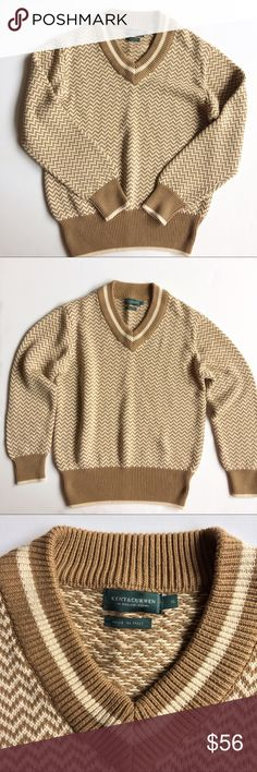 Kent & Curwen Knit Sweater Kent & Curwen, Made in Italy, Sweater. Excellent Condition. UK sizing. Please refer to photos for measurements. This is a men's sweater but if you are a woman and you like oversized chunky sweaters you can wear it too. Kent & Curwen Sweaters V-Neck