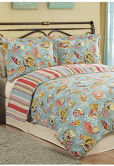 Pem America Barbado Quilt Collection This cotton quilt blends tropical colors and themes with quality craftsmanship using all cotton material for both comfort and durability.