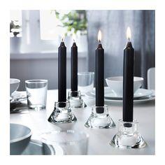 1€ DAGLIGEN 4 bougies noires IKEA