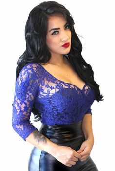 Demi Loon Electric Lace Pinup Top - Demi Loon - Brands  Use the code ROCKSTARSTYLE15 for 15% OFF!