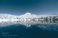 Reflection Lake in Infrared by connorsurdi #nature #mothernature #travel #traveling #vacation #visiting #trip #holiday #tourism #tourist #photooftheday #amazing #picoftheday